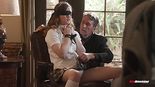 Pretty pupil in short skirt Devon Green is fucked by old professor