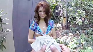 Big Ass, Big Tits, Redhead Teen Picked Up Together with Fucked For Cash, POV