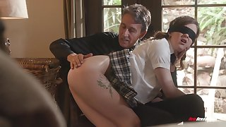College graduate Devon Green is into kinky sex with older the rabble