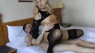 Cuckold girl with younger sweetheart